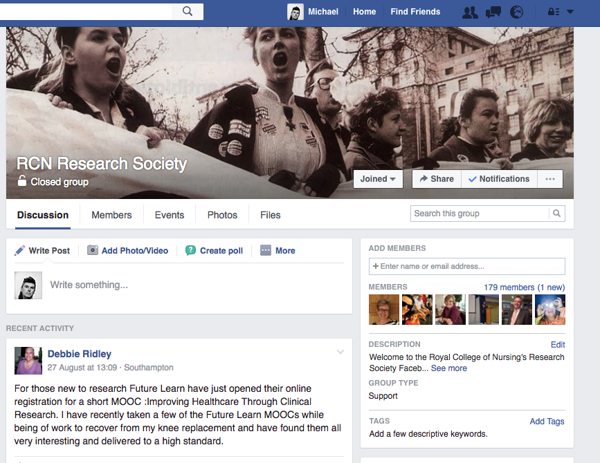 RCN research society page